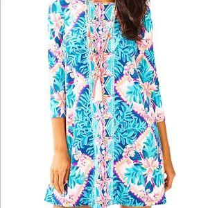 NWT Lilly Pulitzer Ophelia Dress Seaside Aqua